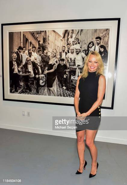 Pamela Anderson attends Maddox Gallery Los Angeles Presents Pamela Anderson by David Yarrow at Maddox Gallery on June 07 2019 in Los Angeles...