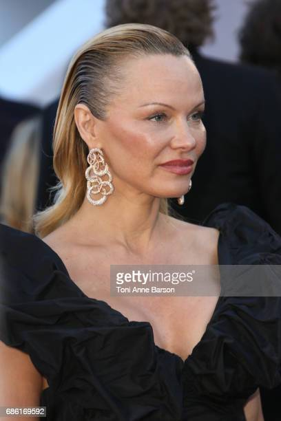 """Pamela Anderson attends the """"120 Battements Par Minutes """" screening during the 70th annual Cannes Film Festival at Palais des Festivals on May 20,..."""