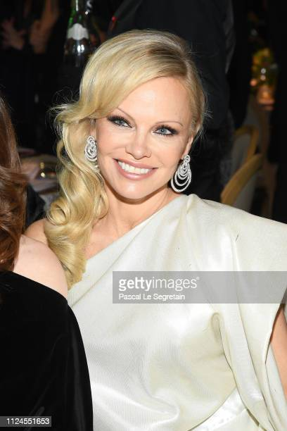 Pamela Anderson attends the 17th Diner De La Mode as part of Paris Fashion Week on January 22 2019 in Paris France