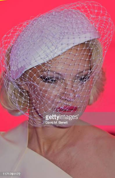 Pamela Anderson attends the Andreas Kronthaler For Vivienne Westwood Womenswear Spring/Summer 2020 show as part of Paris Fashion Week on September 28...