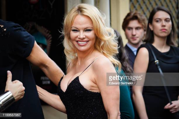 Pamela Anderson attends the Bionic ShowGirl Premiere at Le Crazy Horse on June 03 2019 in Paris France