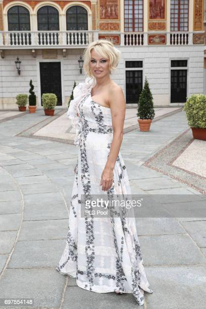 Pamela Anderson attends the cocktail party of the 57th Monte Carlo TV Festival at the Monaco Palace on June 18 2017 in MonteCarlo Monaco