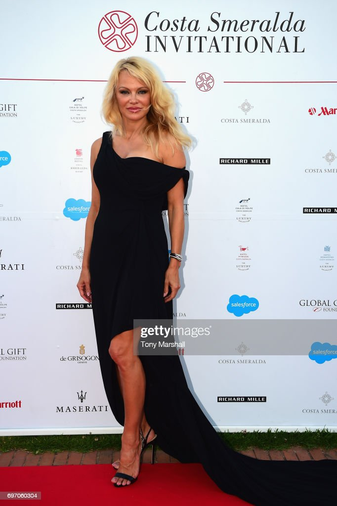 Pamela Anderson attends The Costa Smeralda Invitational Gala Dinner at Cala di Volpe Hotel - Costa Smeralda on June 17, 2017 in Olbia, Italy.