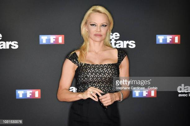 Pamela Anderson attends the 'Danse Avec Les Stars 2018' Photocall At TF1 on September 11 2018 in Paris France