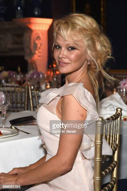 Pamela Anderson attends the Global Gift Gala for The Diana Award hosted by Earl Spencer at Althorp House on June 14 2017 in Northampton England