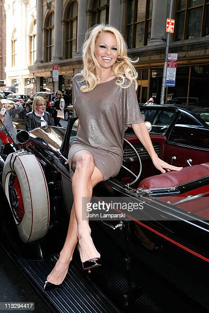 Pamela Anderson attends the Horse-drawn Carriage Industry protest on the streets of Manhattan on April 30, 2011 in New York City.