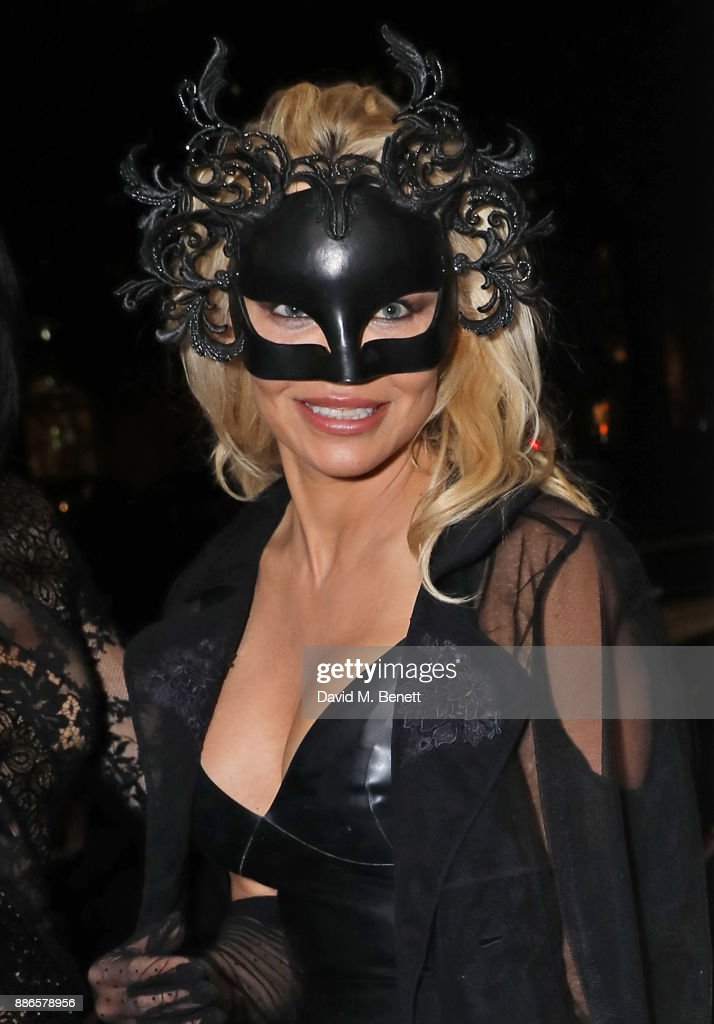 Pamela Anderson attends the launch of her exclusive Coco De Mer collection at Morton's on December 5, 2017 in London, England.