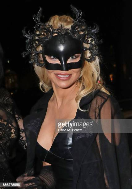 Pamela Anderson attends the launch of her exclusive Coco De Mer collection at Morton's on December 5 2017 in London England