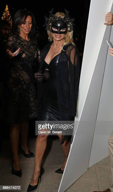 Pamela Anderson attends the launch of Pamela Anderson's exclusive Coco De Mer collection at Morton's on December 5, 2017 in London, England.