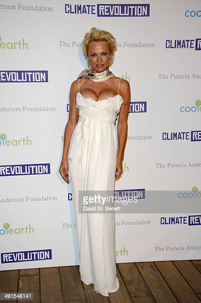 Pamela Anderson attends The Pamela Anderson Foundation launch cohosted by Dame Vivienne Westwood in support of Cool Earth at the Cannes Film Festival...