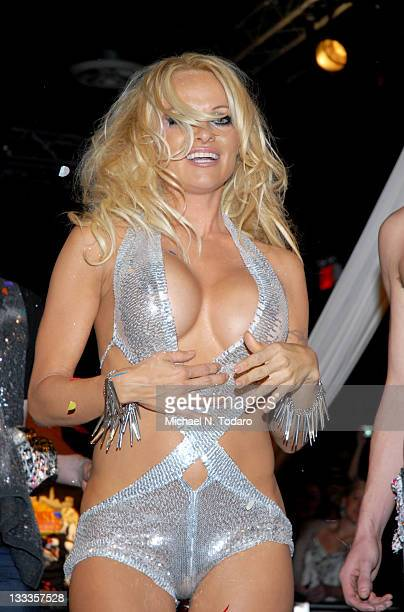 Pamela Anderson attends the Richie Rich A*Muse fashion show during MercedesBenz Fashion Week Fall 2010 at Amnesia NYC on February 17 2010 in New York...