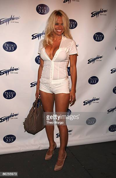 Pamela Anderson attends the Sapphire Gentlemen's Club and Prime 333 grand opening on April 27 2009 in New York City