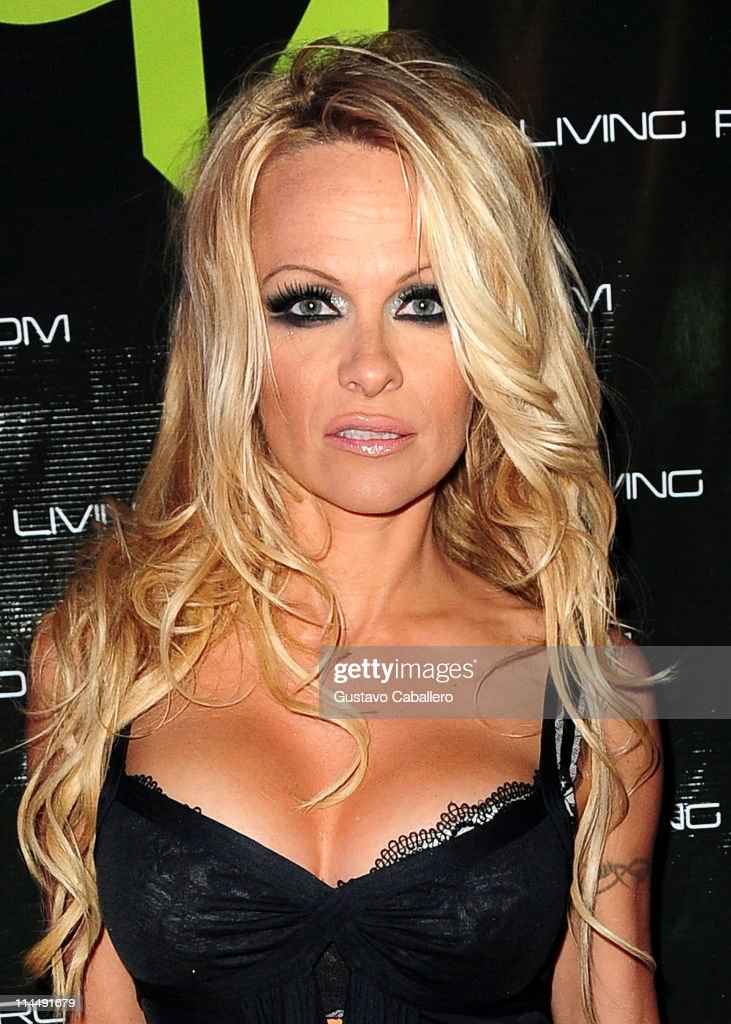 Pamela Anderson Attends The Third Annual Silver Party At Living Room Nightclub On May 21