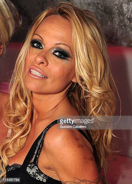 Pamela Anderson attends the Third Annual Silver Party at Living Room Nightclub on May 21 2011 in Fort Lauderdale Florida