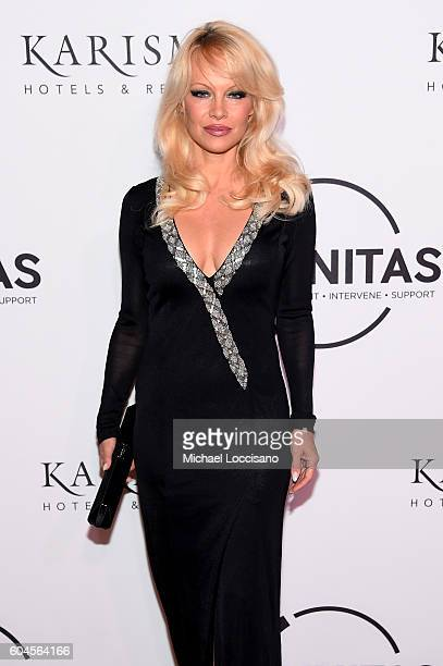 Pamela Anderson attends the UNITAS 2nd annual gala against human trafficking at Capitale on September 13 2016 in New York City