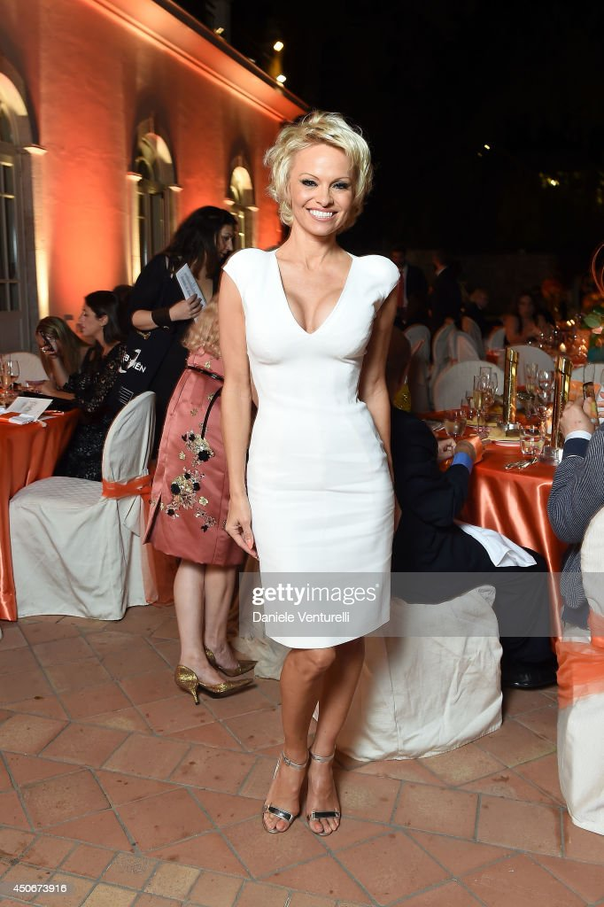 Pamela Anderson attends the World Food Programme Charity Gala Hosted by MASERATI during the 60th Taormina Film Fest on June 15, 2014 in Taormina, Italy.