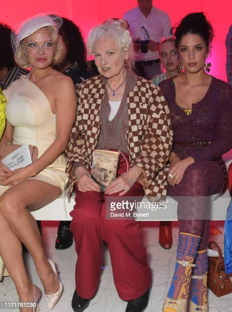 Pamela Anderson Dame Vivienne Westwood and Halsey attend the Andreas Kronthaler For Vivienne Westwood Womenswear Spring/Summer 2020 show as part of...