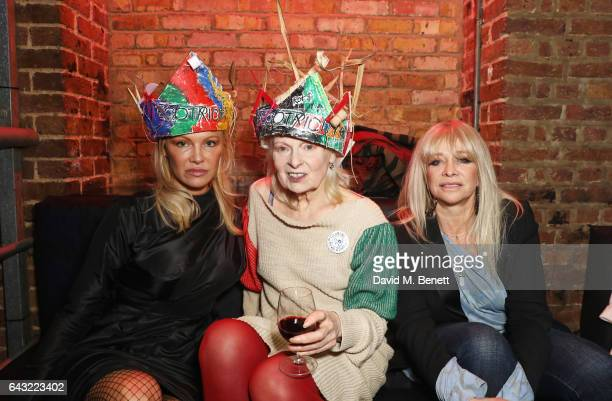 Pamela Anderson Dame Vivienne Westwood and Jo Wood attend Dame Vivienne Westwood and James Jagger's Mad Max party in aid of climate change during...