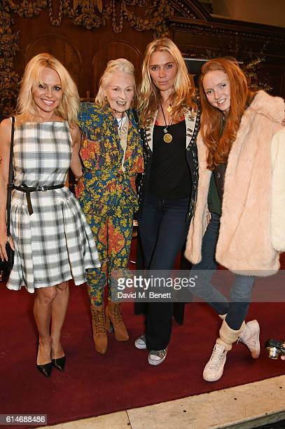 Pamela Anderson Dame Vivienne Westwood Jodie Kidd and Lily Cole attend An Evening With Vivienne Westwood discussing her new book Get A Life The...