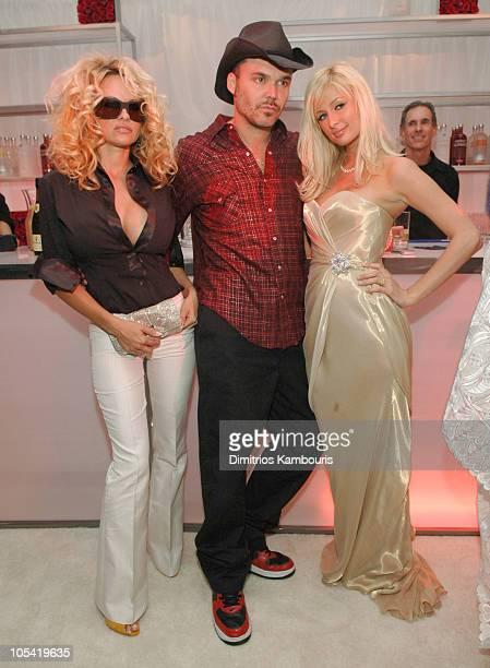 Pamela Anderson David LaChapelle and Paris Hilton