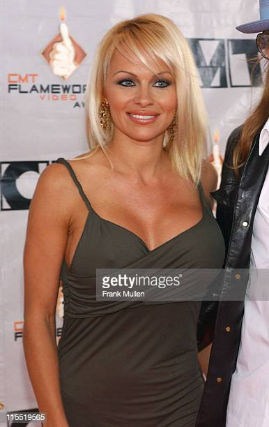 Pamela Anderson during 2003 CMT Flameworthy Awards Arrivals at The Gaylord Center in Nashville Tennessee United States