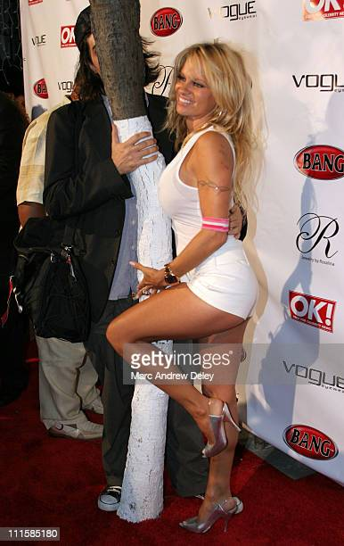 Pamela Anderson during 2005 MTV VMA Pamela Anderson Launches Her Book Superstar at Prive at Prive in Miami Florida United States