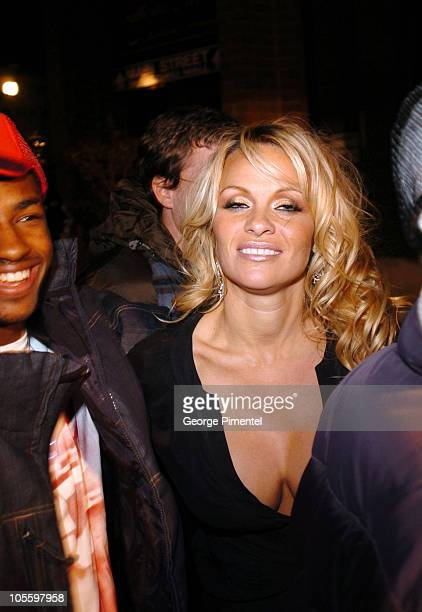 """Pamela Anderson during 2005 Sundance Film Festival - """"Rize"""" After Party at The Gateway Center in Park City, Utah, United States."""
