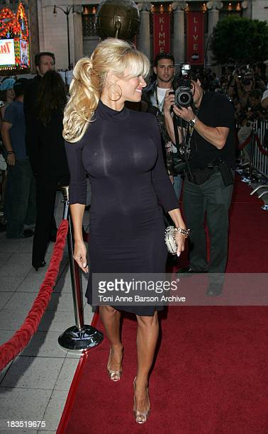 Pamela Anderson during 2005 World Music Awards Red Carpet at Kodak Theatre in Los Angeles CA United States