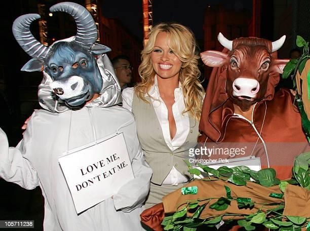 Pamela Anderson during 25th Anniversary Gala for PETA and Humanitarian Awards - VIP Reception at Paramount Studios in Hollywood, California, United...