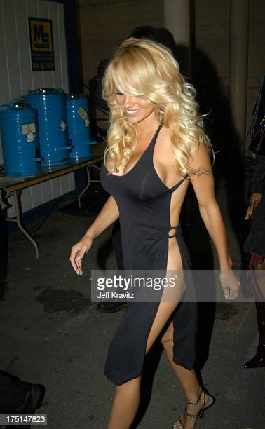 Pamela Anderson during 31st Annual American Music Awards Backstage and Audience at The Shrine Auditorium in Los Angeles California United States