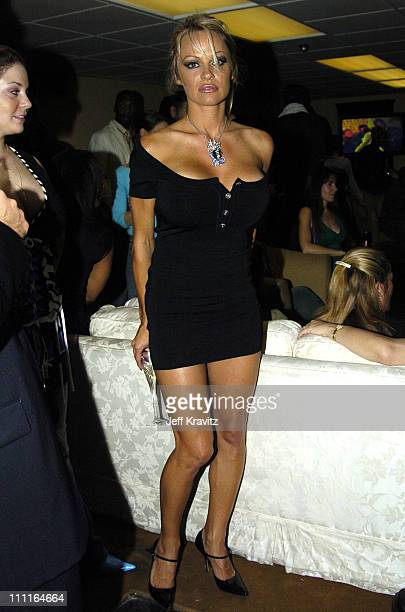 Pamela Anderson during 32nd Annual American Music Awards Backstage at Shrine Auditorium in Los Angeles California