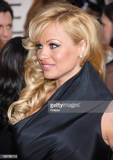 Pamela Anderson during 63rd Annual Golden Globes Red Carpet at Beverly Hilton in Beverly Hills California United States