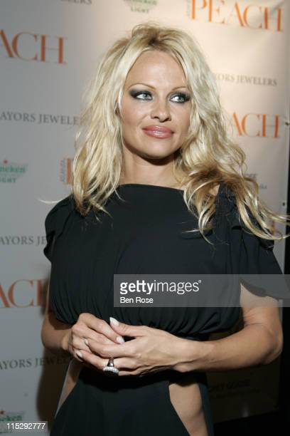 Pamela Anderson during Atlanta PEACH Magazine Launch Party Hosted by Pamela Anderson and Ludacris Arrivals at Intercontinental Hotel Atlanta in...
