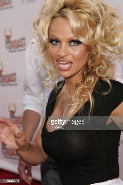 Pamela Anderson during Comedy Central Roast of Pamela Anderson Arrivals at Sony Studios / Stage 15 in Culver City California United States