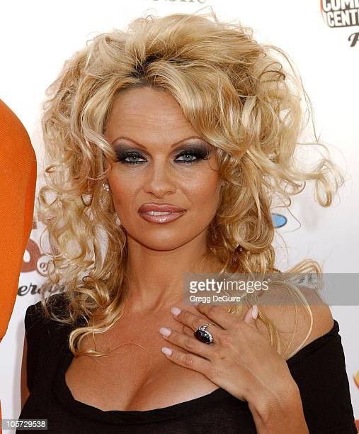 Pamela Anderson during Comedy Central Roast of Pamela Anderson Arrivals at Sony Studios in Culver City California United States