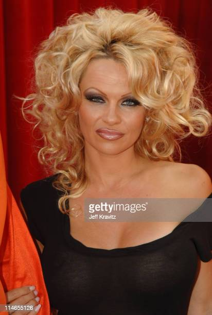 Pamela Anderson during Comedy Central Roast of Pamela Anderson Red Carpet at Sony Studio in Culver City California United States