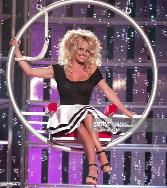 Pamela Anderson during Comedy Central Roast of Pamela Anderson Show at Sony Studios in Culver City California United States