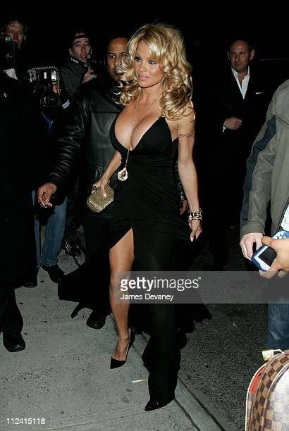 Pamela Anderson during Olympus Fashion Week Fall 2006 MAC Chinese New Year Party Outside Arrivals at Eyebeam in New York City New York United States