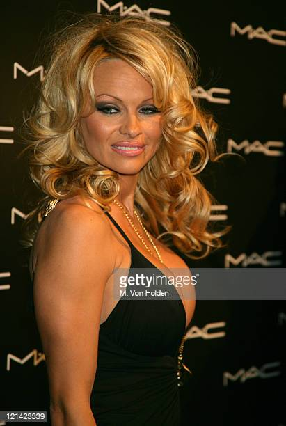 Pamela Anderson during Olympus Fashion Week Fall 2006 - MAC Chinese New Year Party at Eyebeam in New York City, New York, United States.