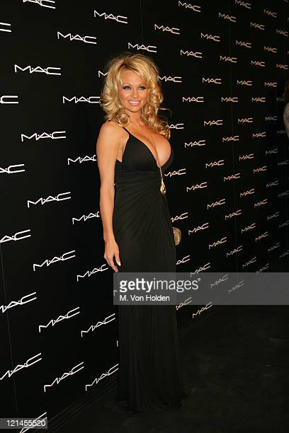 Pamela Anderson during Olympus Fashion Week Fall 2006 MAC Chinese New Year Party at Eyebeam in New York City New York United States