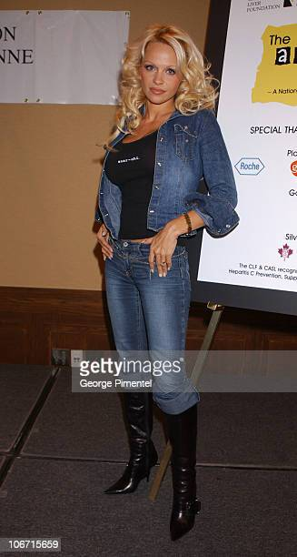 Pamela Anderson during Pamela Anderson and The Canadian Liver Foundation Raise Awareness About Viral Hepatitis at Delta Chelsea Hotel in Toronto...