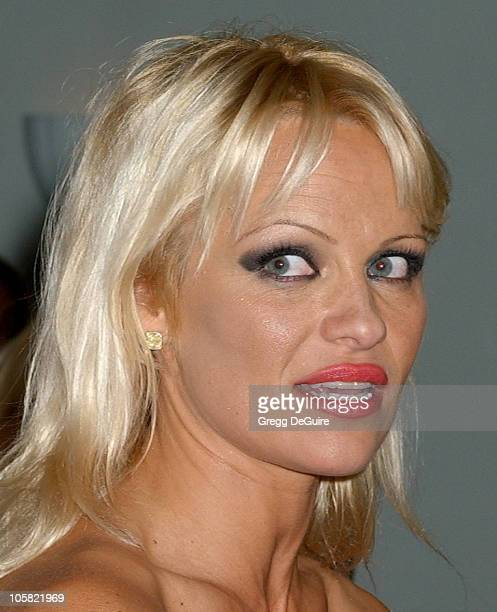 Pamela Anderson during Pamela Anderson Hosts DVD Release Of 'Baywatch' Seasons One And Two Arrivals at Casa Del Mar in Santa Monica California United...