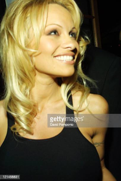 Pamela Anderson during Pamela Anderson Hosts Sirius Satellite Radio NFL Super Bowl Dinner Party at Ibiza Resturant in Houston Texas United States