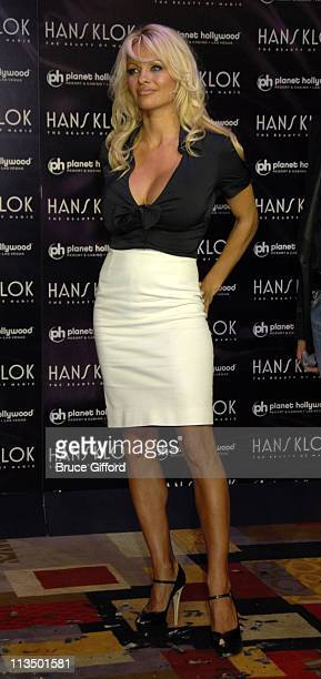Pamela Anderson during Pamela Anderson Joins Hans Klok's 'The Beauty of Magic' Show at Planet Hollywood Resort Casino in Las Vegas Nevada United...