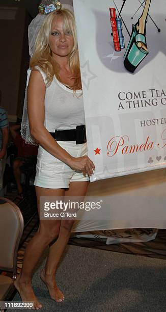 Pamela Anderson during Pamela Anderson Launches PamelaPokercom July 26 2006 at The Rio Hotel and Casino in Las Vegas Nevada United States