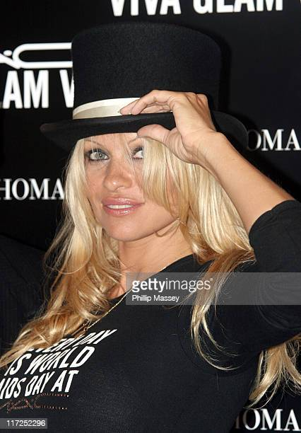 Pamela Anderson during Pamela Anderson News Conference for Mac Viva Glam AIDS Fund Campaign at Brown Thomas in Dublin Ireland