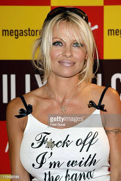 Pamela Anderson during Pamela Anderson Signs Copies of her New Book Star at Virgin Megastore London October 21 2004 at Virgin Megastore in Piccadilly...
