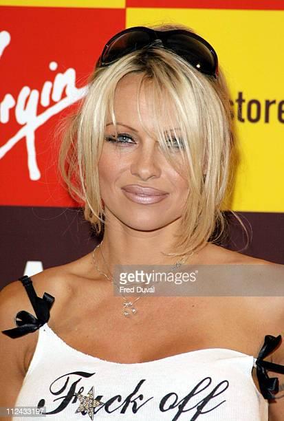 Pamela Anderson during Pamela Anderson Signs Copies of her New Book 'Star' at Virgin Megastore London October 21 2004 at Virgin Megastore in...