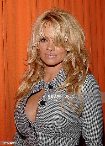 Pamela Anderson during Swiffer CarpetFlick Presents Fox Network's Fall Season Premiere Orange Carpet at Cabana Club in Los Angeles California United...