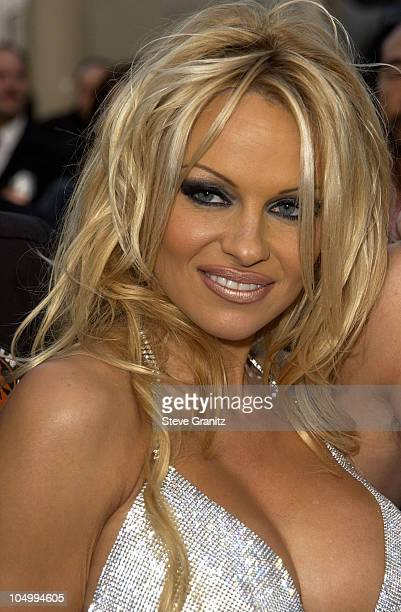 Pamela Anderson during The 29th Annual American Music Awards Arrivals at The Shrine Auditorium in Los Angeles California United States